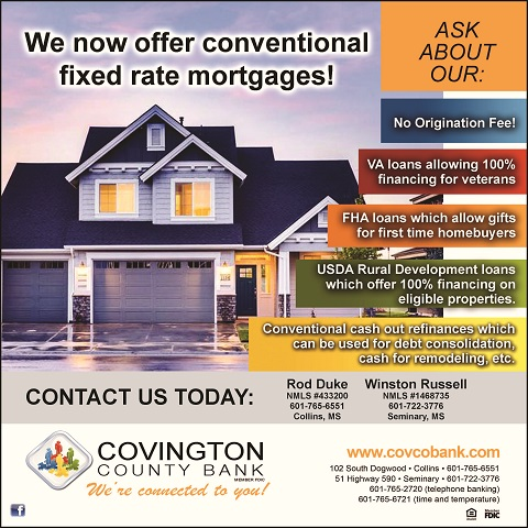 We now offer conventional fixed rate mortgages! Contact us today!